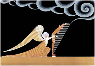 <i>The Angel</i> by the distinctive Art Deco designer Erté (Romain de Tirtoff)