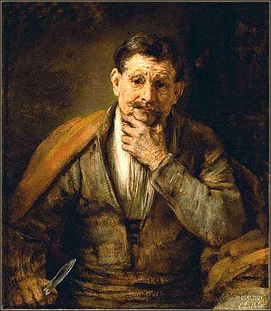 <i>The Apostle Bartholomew</i> by Rembrandt, ca. 1661.