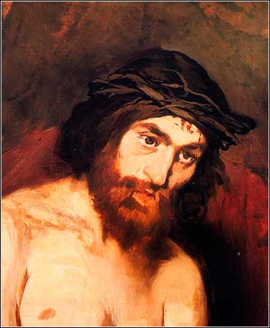 <i>The Head of Christ</i> by Edouard Manet, ca. 1864.