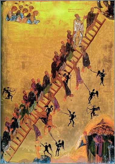 Devotional painting of Jacob Ladder, St. Catherine Monastery, Sinai