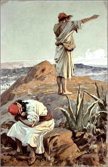 <i>Elijah Atop Mt. Carmel</i> by James Tissot, ca. 1897.
