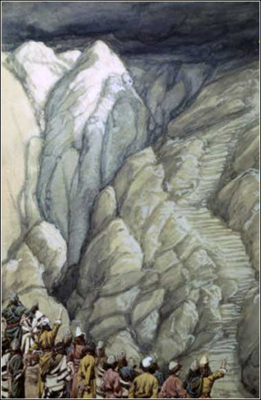 <i>The Cloud of Smoke on Mount Sinai</i> by James Tissot ca. 1890.