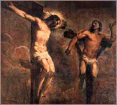 Devotional painting by Titian, Christ forgives the thief on the cross