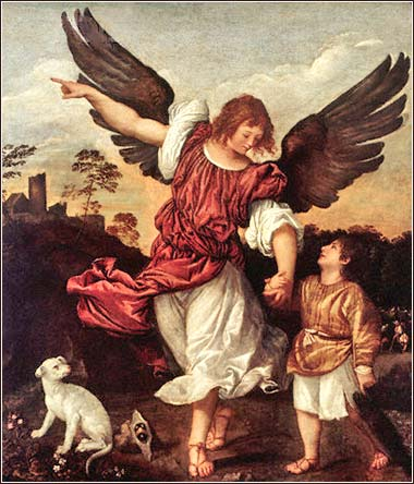 <i>Tobias and the Archangel Raphael</i> by Titian (Vecellio Tiziano) ca. 1540.
