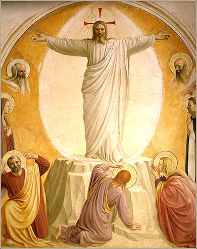 <i>Transfiguration</i> by Fra Angelico, ca. 1440.