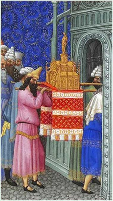 <i>The Ark of God Carried into the Temple</i> from the <i>Tres Riches Heures de Duc de Barry</i>,