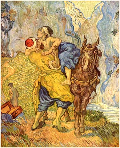 <i>The Good Samaritan</i> by Vincent van Gogh, ca. 1890.