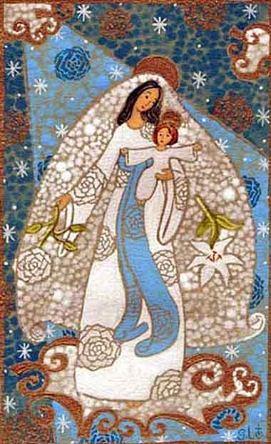 "<i>La Vierge (the Virgin)</i>, tapestry by ""Cathy S."", contemporary."