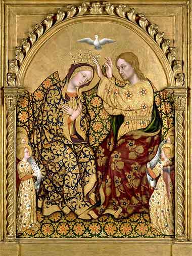 Coronation of the Virgin by Gentile da Fariano, c. 1425
