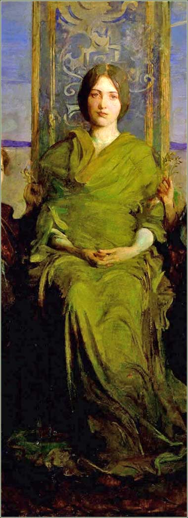 <i>The Virgin Enthroned</i> by Abbott Handerson Thayer, ca. 1891. +