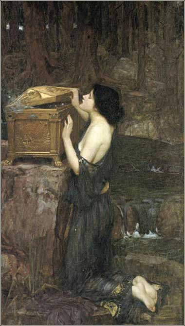 <i>Pandora</i> by John William Waterhouse, ca. 1896.