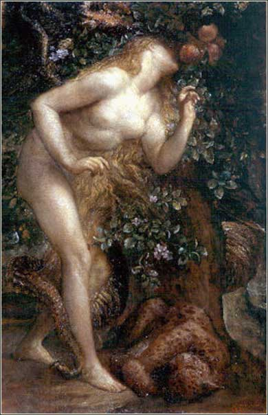 <i>Eve Tempted</i> by George Frederic Watts ca. 1884.