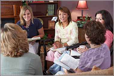Devotional women studying the Bible