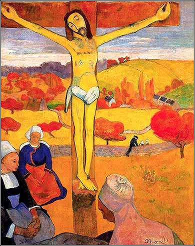 <i>Yellow Christ</i> by Paul Gaugin, ca. 1889.