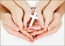 purity - hands of Christian family