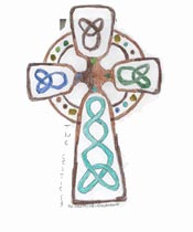 Child's drawing <br>of a cross