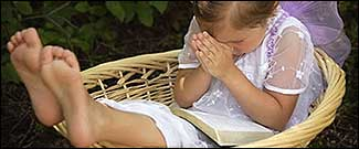 child praying - humor
