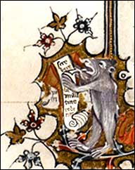Monkey writing, Egerton ms.