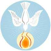 Holy Spirit, dove with flame