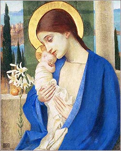 Jesus and Mary|Marianne Stokes