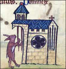 Rabbit ringing a church bell