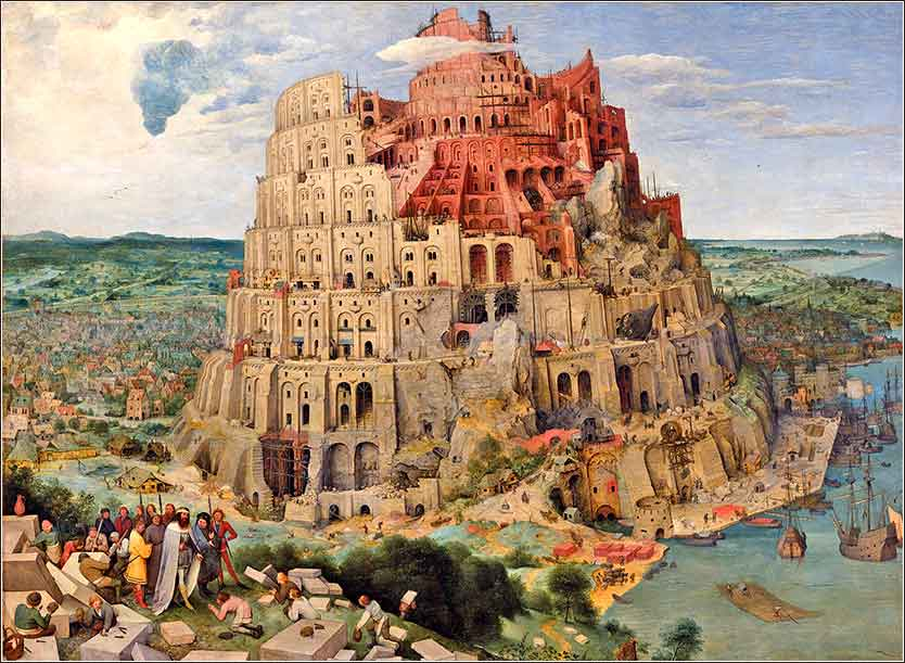 <i>The Tower of Babel</i>, by Pieter Bruegel the Elder, 1563.