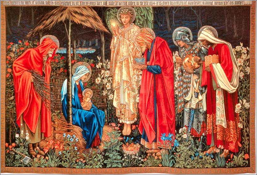 Adoration of the Magi, tapestry by William Morris and Edward Burne-Jones ca. 1894
