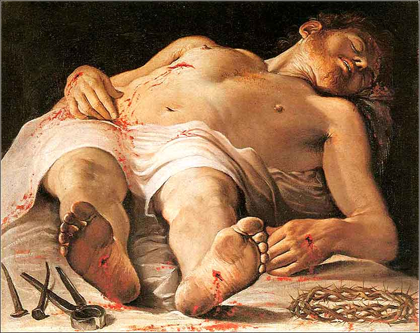 <i>Corpse of Christ</i> by Annibale Carracci, ca. 1585.