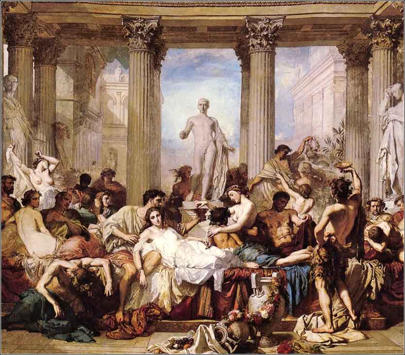 <i>Romans of the Decadence</i> by Thomas Couture, ca. 1847.