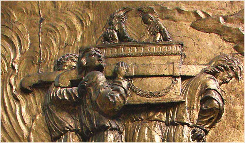 <i>Ark Being Carried into the Temple</i>, from the Cathedrale Sainte-Marie in Auch, France.
