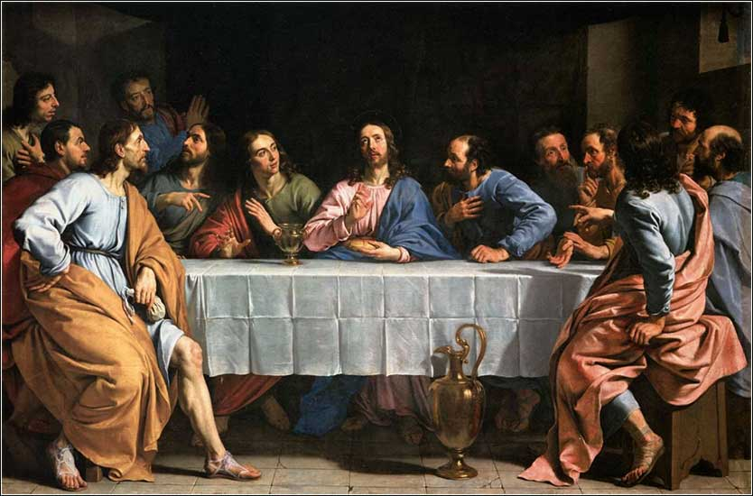 <i>The Last Supper</i> by Philippe de Champaigne ca. 1654.