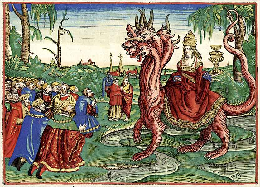 Whore of Babylon, Cranach the Elder for 1534 Luther Bible, Book of Revelation