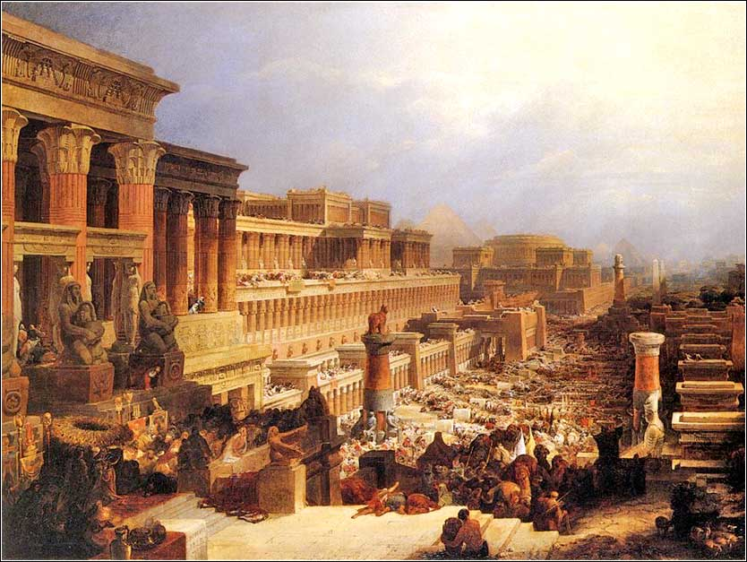 <i>The Israelites Leaving Egypt</i> by David Roberts, ca. 1828.