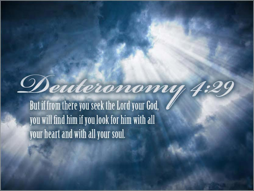 Deuteronomy Seek the Lord