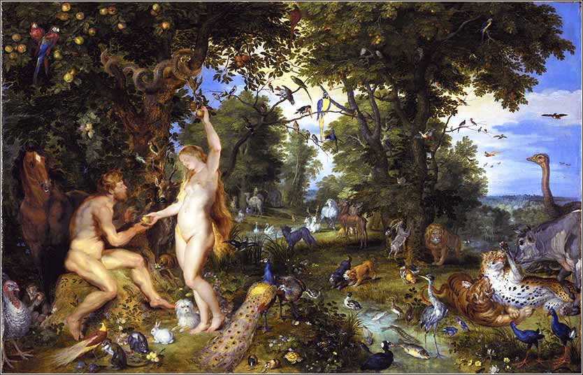 <i>Garden of Eden</i> by Peter Paul Rubens and Jan Breughel, ca. 1615.