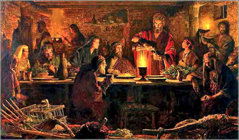 The First Passover, Arnold Friberg ca. 1953.