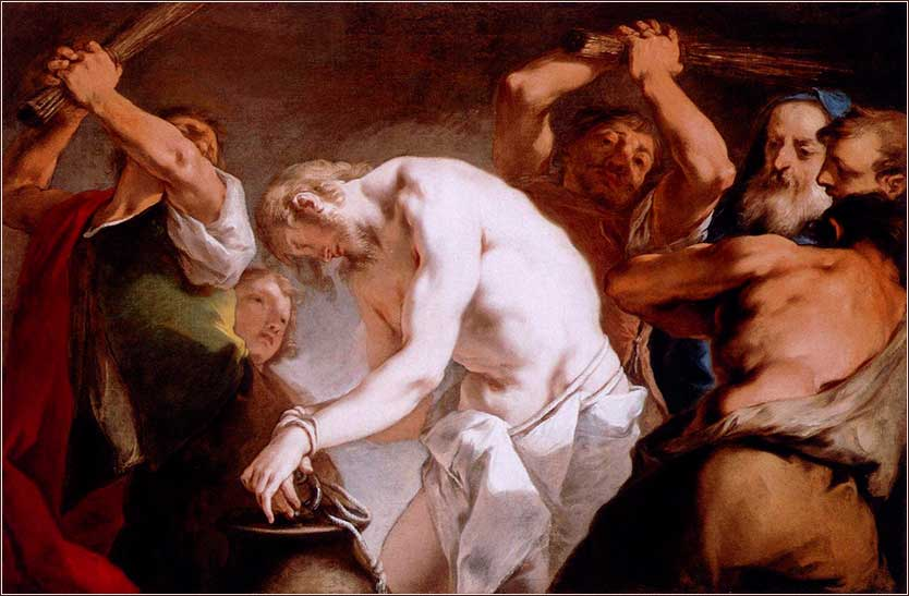 <i>Flagellation of Christ</i> by Nicolò Grassi, ca. 1720.
