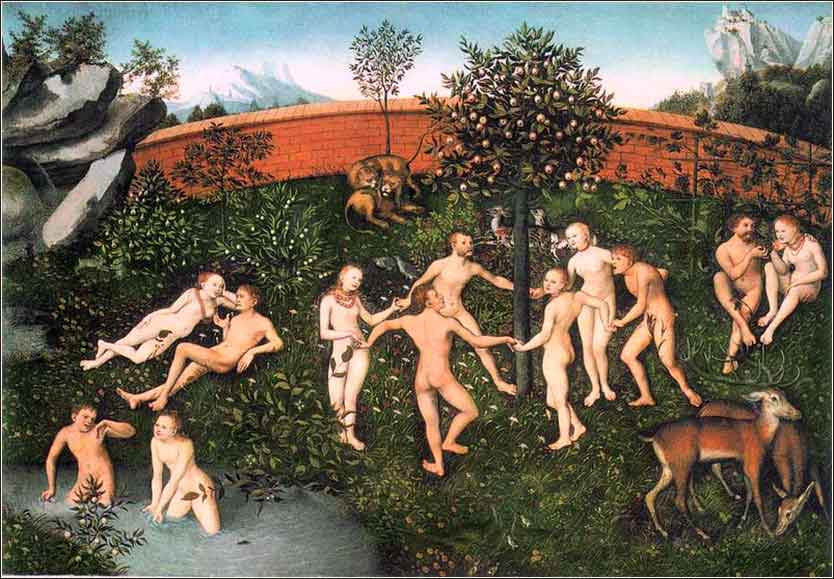Garden of Eden, The Golden Age, Cranach