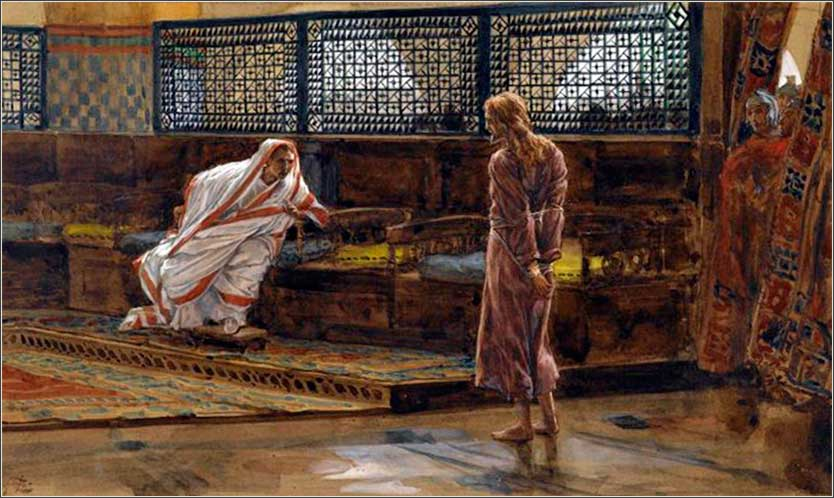 <i>Jesus' Interview Before Pilate</i>, James Tissot ca. 1888.