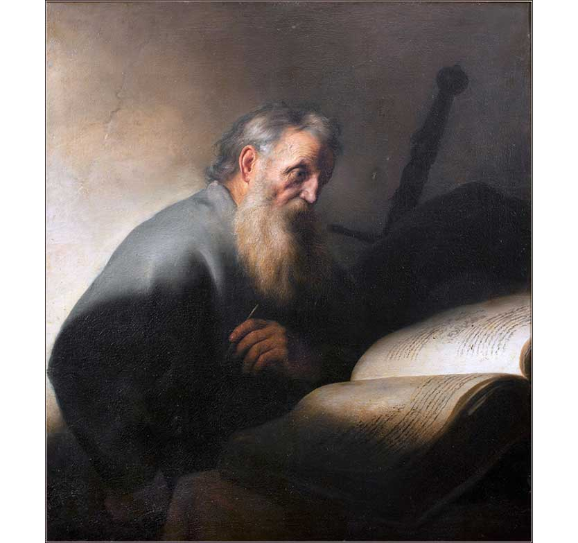 <i>St. Paul Writing an Epistle</i> by Jan Lievens, ca. 1627.