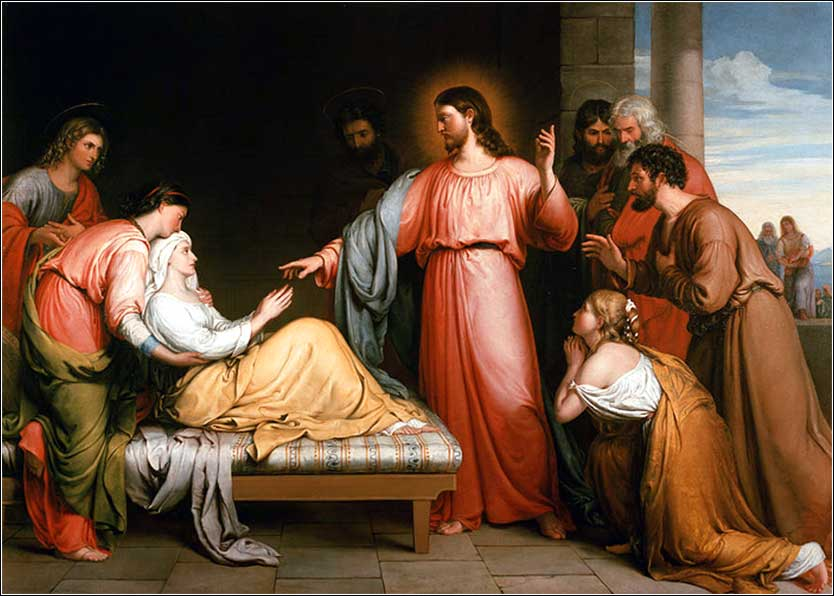 <i>Christ Healing the Mother-in-Law of Simon Peter</i> by John Bridges, ca. 1852.