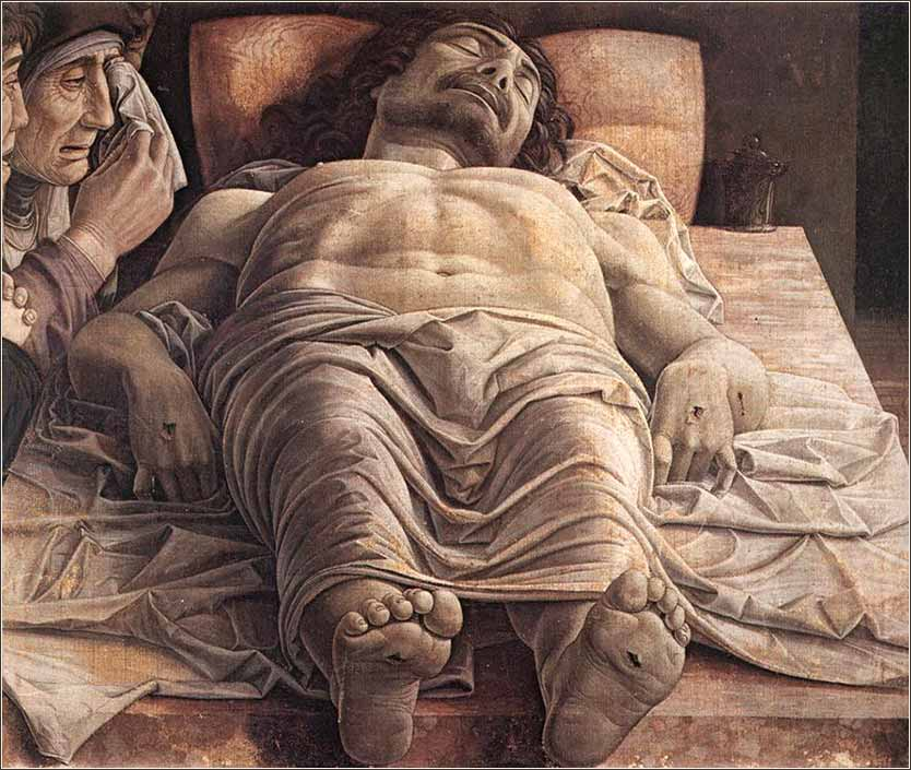<i>Lamentation of Christ</i> by Andrea Mantegna, ca. 1480.