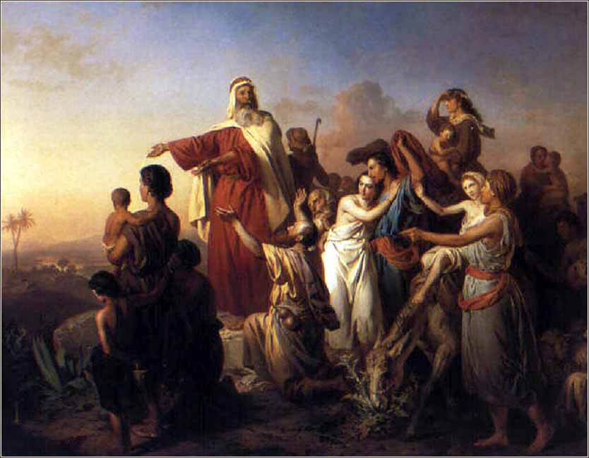 <i>Moses Leading the Israelites out of Egypt,</i> Josef Molnar ca. 1861.