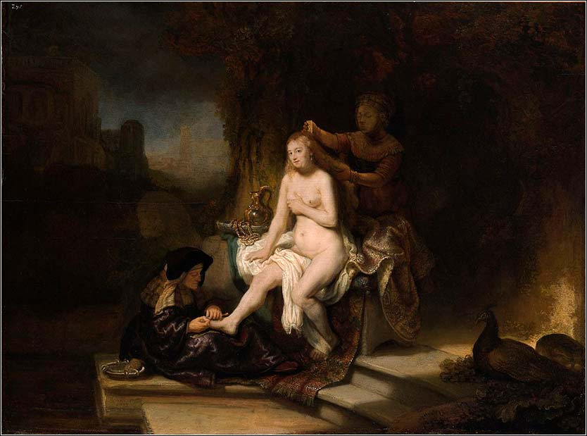 <i>The Toilet of Bathsheba</i> by Rembrandt van Rijn, ca. 1643.
