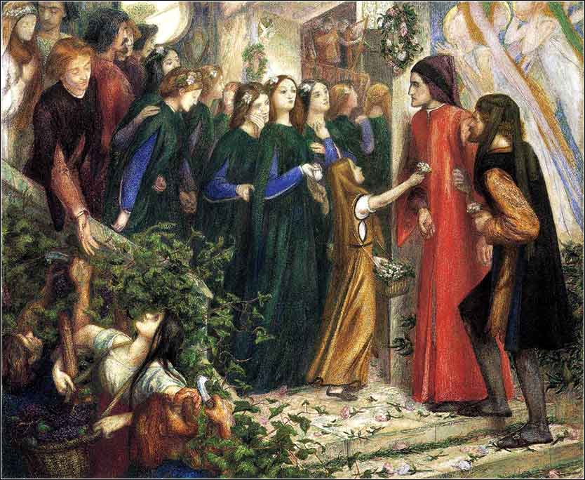 Wedding of Prince George, Gabriel Rossetti