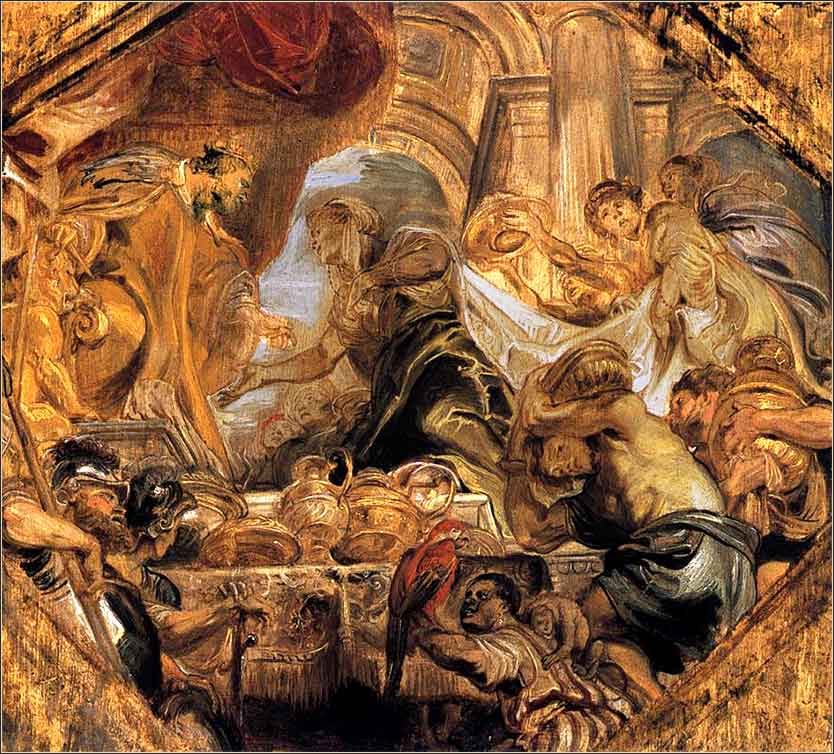 <i>Solomon Receives the Queen of Sheba</i> by Peter Paul Rubens, ca. 1620.