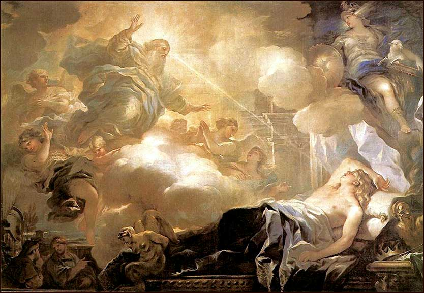<i>Solomon's Dream </i> by Luca Giordano ca. 1680.