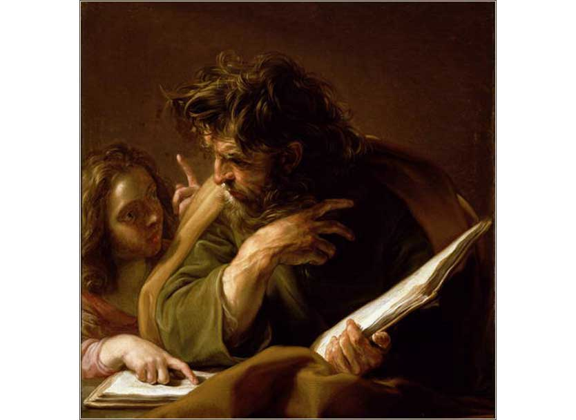 <i>Saint Matthew</i> by Pompeo Batoni, ca. 1708.