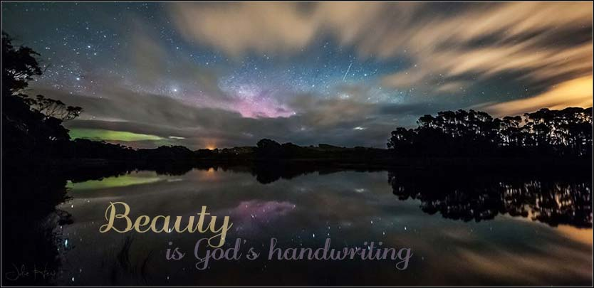 Beauty is God's handwriting