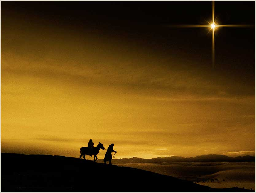 Nativity Evening Star | Mary Joseph travel to Bethlehem